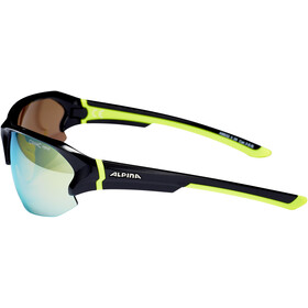 Alpina Lyron HR Okulary rowerowe, black-neon yellow